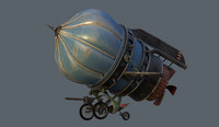 battle airship 3d model