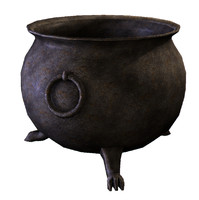 Medieval Cauldron, Low Poly