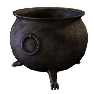 3d medieval cauldron model