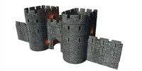 Medieval Gatehouse Game Asset