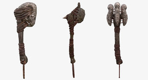 fantasy tribal weapons - 3d max