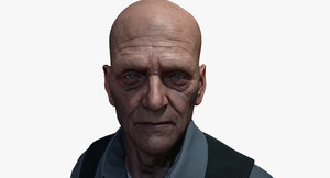 3d model of male character face