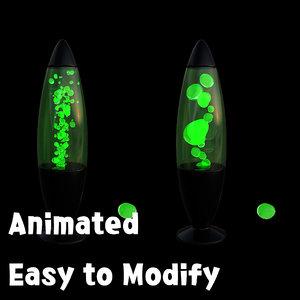 3d model lava lamp