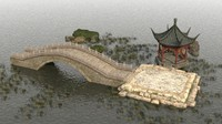 3d model chinese architecture ancient