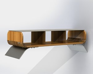 3d solidworks tv stand