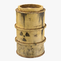3d toxic waste drum 02 model