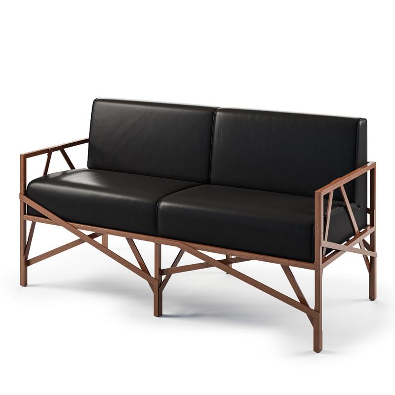 3d model allumette sofa