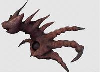crazy alien monster 3d fbx