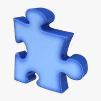 3d puzzle squeezed blue