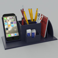 3d model desk pen organiser