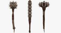 fantasy tribal weapons - max