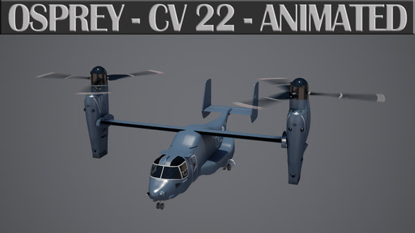 3d osprey cv 22 animation