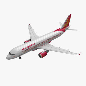 airbus a320 air india 3d 3ds