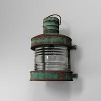 3d model old street lamp