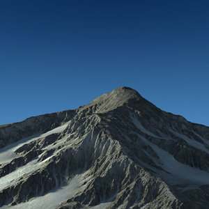 3d mountain landscape terrain snow