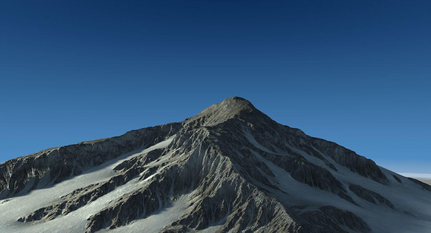 3d mountain landscape terrain snow