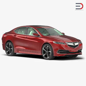 3d acura tlx 2015 simple model