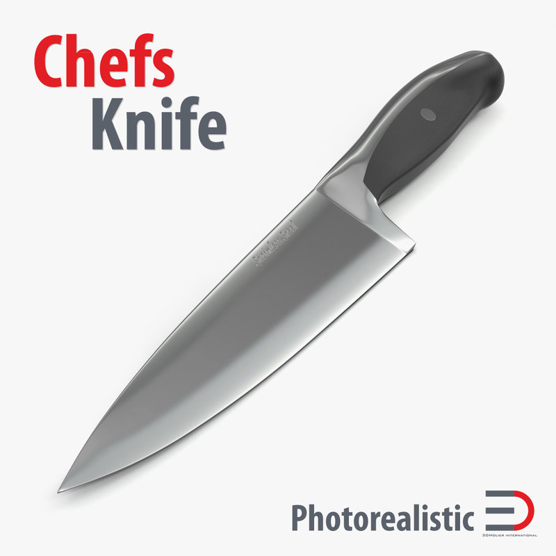 chefs knife 10 inch 3d x