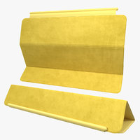 Smart Cover for Ipad Air Yellow 3D Model