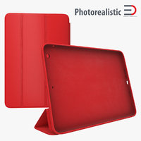 Ipad Mini Red Smart Case 3D Model