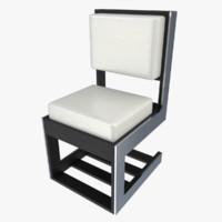 chair blender 3d x