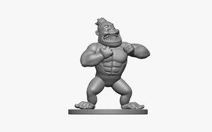 gorilla printed 3d obj