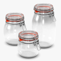 x glas jar container