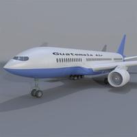 3d guatemala airplane model