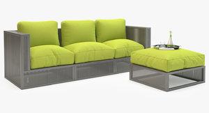 mudo corsica garden sofa set 3d model