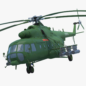 3d model mi-171 helicopter