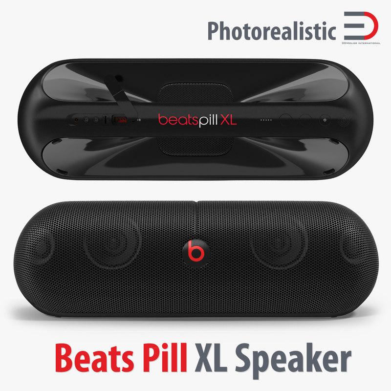 3d model beats pill xl speaker