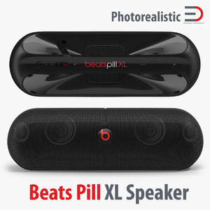 3d model beats pill xl speaker