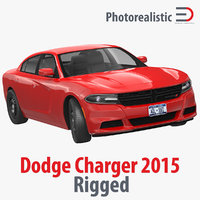 dodge charger 2015 rigged 3d max