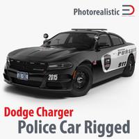 3d model dodge charger 2015 police car