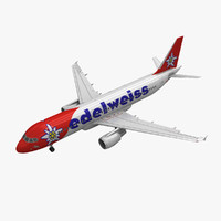 Airbus A320 Edelweiss Air Animated