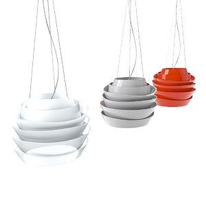 lesoleil ceiling lamp 3d 3ds
