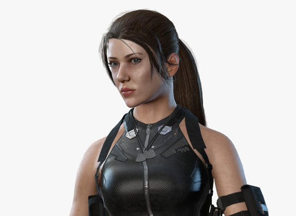 sci fi girl 3d model
