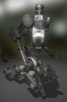 walking mech neck old 3d 3ds