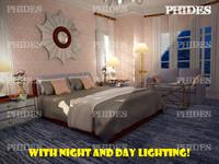 3d max bedroom scene