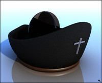 3d hat priest