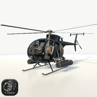 AH6 Little Bird (low poly)