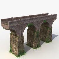 3d model stone bridge