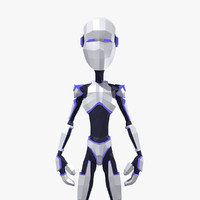 3d cartoon humanoid robot man character