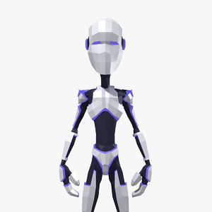 3d cartoon humanoid robot man character