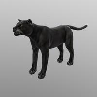 3d black panther - model