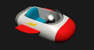 3d model of cartoon spaceship