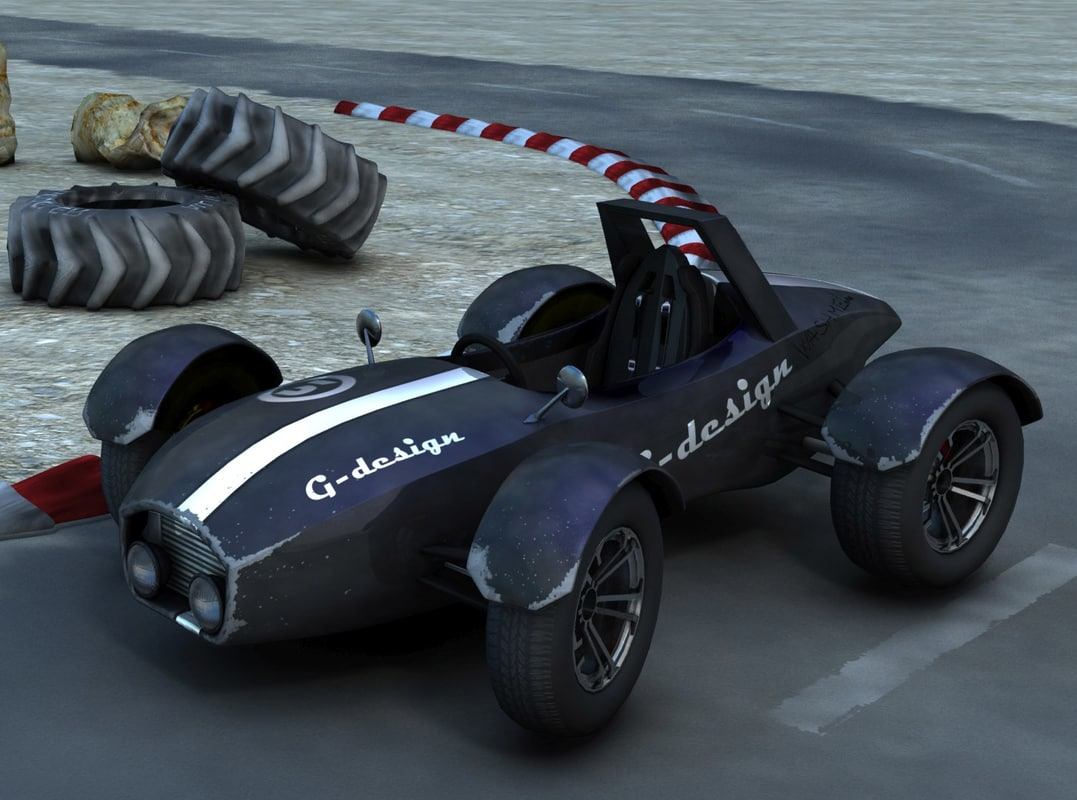 3d model of formula buggy style