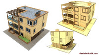 3d model of family house