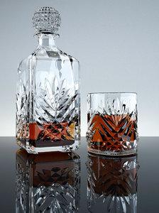3d bottle whisky glass