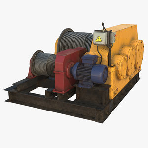 3d electric winch model